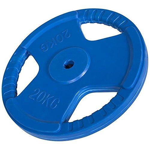 Hantelscheiben Gripper Gummi 1,25kg-25kg, 30/31mm (20 KG (Blau))