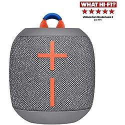 ULTIMATE EARS WONDERBOOM 2, Enceinte Portable Bluetooth Sans Fil, Son à 360 Degrés avec Basses Puissantes, Étanche / Anti-Poussière IP67, Capacité à Flotter, Portée de 30 Mètres - Crushed Ice Grey