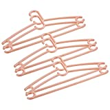 Primeway Swiss Polypropylene Coat Hangers, 6 Pcs Set, Peach