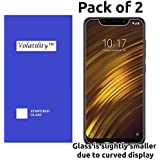 Volatility™ Tempered Glass for Xiaomi Pocophone F1 - Pack of 2