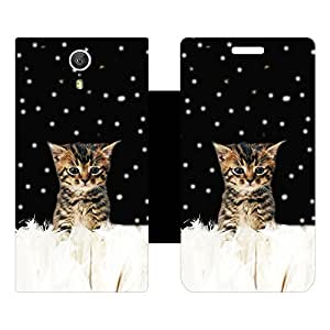 Skintice Designer Flip Cover with Vinyl wrap-around for Lenovo Zuk Z1, Design - Cat