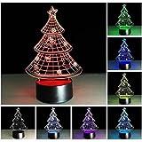 LOERO® Erstaunliche 3D Illusion Effekt LED Nachtlicht Weihnachtsbaum LED Schreibtisch Tisch...