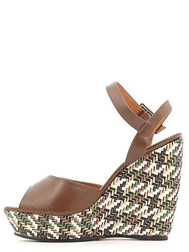 GRACE SHOES 2-34149 Sandales Compensées Femmes Noir