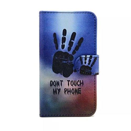 Sunroyal Chic Klapptasche Wallet Case Kunstlederhülle für Samsung Galaxy Grand Prime G530/G530H/G530FZ/G5308W/G5309W/G5306W SM-G530FZ - Cover Flip Tasche Schwarz Design Luxus Magnetic Flip Case mit Ka Pattern 11