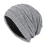 Leisial Sombrero de Invierno Unisexo-Adult Gorro de Punto Caliente Sombrero al Aire Libre Doble Uso Gorro de Regalo para Hombre Mujer