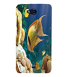 printtech Fish Coral Seawater Back Case Cover for Micromax Bolt Q335