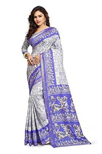 AJS RAW SILK Saree With Blouse Piece(rhytm1106a_multicoloured_Free Size)