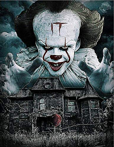Clown Haunted House Ideen - xueyanli DIY Handgemachte Diamant Gestickte 5D