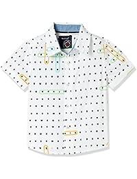 nauti nati Baby Boys' Plain Regular Fit Shirt