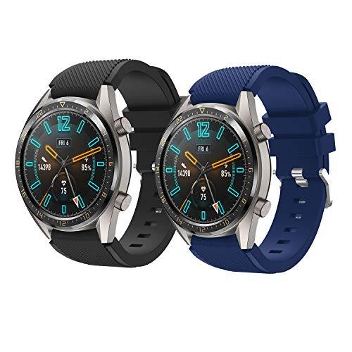 TMCCB Correa Huawei Watch GT Pulsera Banda-[2 Packs]