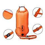 Qubabobo Swim Boa in materiale PVC 20l rimorchio per piscina, Plus, sacca per Open Water nuotatori e triatleti arancione, Orange