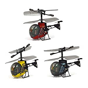 Silverlit Heli Bee 3-Channel I/ R Miniature Remote Control Gyro Helicopter with Led Light (Assorted) by Silverlit