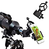 Ueasy Smartphone Capturer support universel de téléphone portable adaptateur compatible avec jumelles Monoculaire longue-vue ou Télescope et microscope