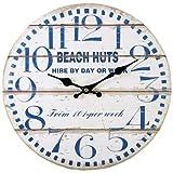 Brown & Ginger 'I do Love to be in riva al mare' 33cm orologio da parete cabine sulla spiaggia