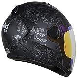 #7: Steelbird Air SBA-2 Strength Night Vision Full Face Graphics Helmet - Single Night Vision Dual Action Visor for Day and Night (Large 600 MM, Matt Black/Grey)