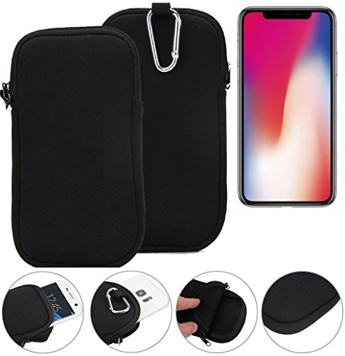 K-S-Trade per Apple iPhone X Manicotto in Neoprene Custodia Protettiva per Cintura Borsa da Viaggio Clip Sottile, Piccola, Leggera, compatta e Facile da Pulire per Apple iPhone X