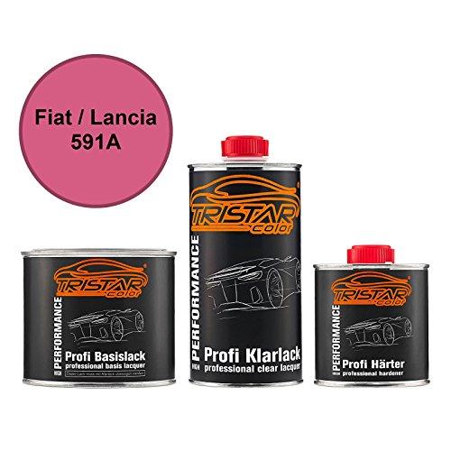 Preisvergleich Produktbild TRISTARcolor Autolack Set Dose spritzfertig für FIAT / Lancia 591A Barbie Rosa Basislack + 2K Klarlack 1, 25L