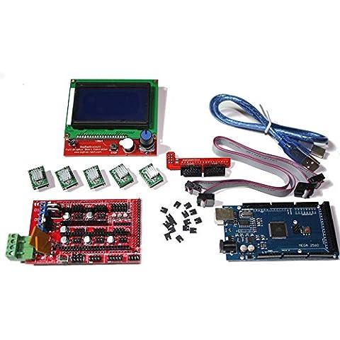 RAMPS 1.4Kit + controller LCD (Mega Argento Confezione)