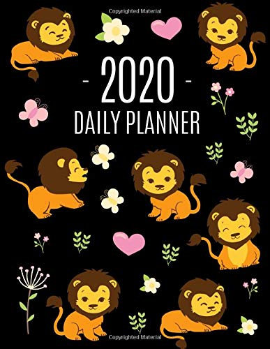 Lion Planner 2020: Cool King of the Jungle Animal Planner & Weekly Organizer | January - December | Large Monthly Agenda Scheduler for Meetings and ... & Pink Hearts (Daily Planners 2020, Band 17) -