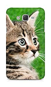 Amez designer printed 3d premium high quality back case cover for Samsung Galaxy J7 (Cat's eyes)