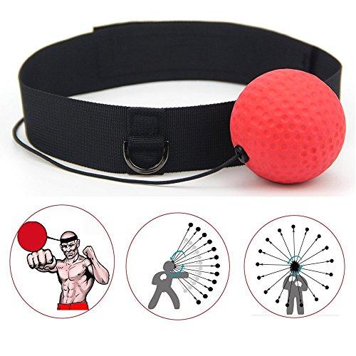 Hongding Boxer Reflex Ball Set mit Klettverschluss und Elastischem Seil Unisex für Fitness, Sport und Boxing und Stresserleichterung