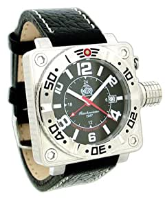 XL Military Diver Watch from Germany with Protected Crown GMT T0145
