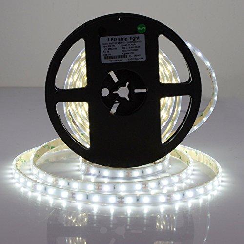 Roleadro Striscia Led 5M 300 LED Impermeabile Bianco Freddo 6000K 2835SMD Flessibile IP65 Led Strip (Strumenti Di Cucina Caso Del Pacchetto)