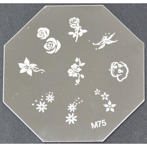 Nail Art emboutissage des tôles - M01 CODE : M75plaque