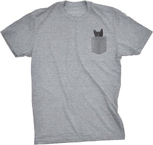 Crazy Dog Tshirts - Mens Pocket Cat T Shirt Funny
