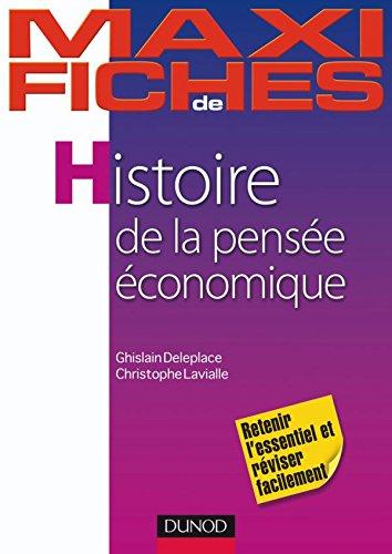 Maxi fiches d'Histoire de la pensée économique par Ghislain Deleplace