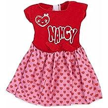 Nancy - Ropita para muñeca Un día de Pasarela, vestido rojo y rosa (Famosa 700013851)