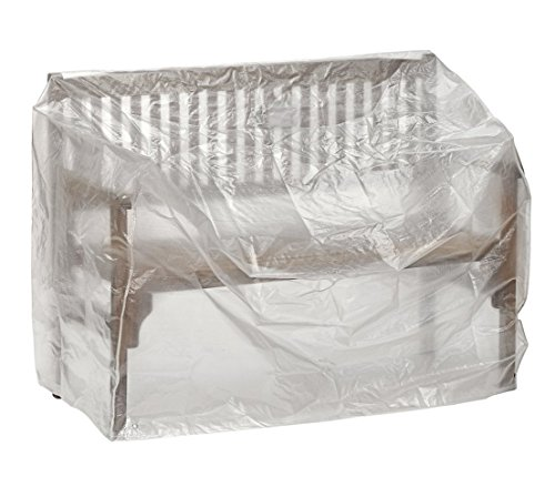 Dehner Gute Wahl Schutzhülle für Gartenbank, ca. 160 x 75 x 78 cm, Polyethylen, transparent