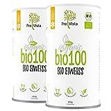 ProVista Bio100 - Bio Eiweisspulver Doppelpack (2 x 450 g) (Honig-Vanille)