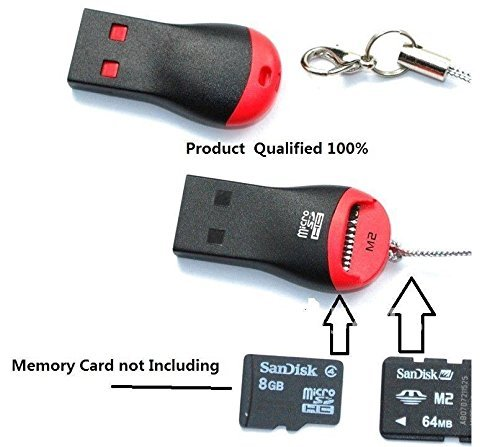 Teflon M003 USB Single Card Reader for TF, M2, Micro SD, T-Flash Memory Cards -Pack of 2 Pieces