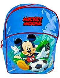 Grand Sac à dos Disney Mickey Mouse bleu 40 cm affaire d'école licence