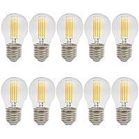 10X E27 Bombillas Edison Retro 4W Bombilla Filamento LED Super Brillant 400LM LED Edison 400LM Sustitución del Incandescente 40W Vintage LED AC 220V