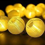Farolillos Solares Exterior de Luces de Cuerda, ALED LIGHT 6m 30 LED Blanco Cálido...