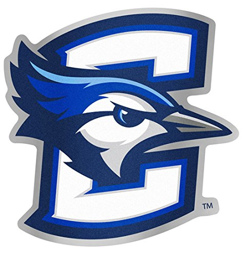 46817e24 Creighton Bluejays Auto Badge Decal, Hard Backed Thin Plastic, 4x3.9 inches