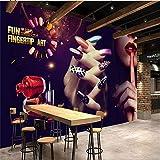 Cucsaist Papier Peint Mural Personnalité 3D Rétro Peinture Maquillage Fond Peinture...
