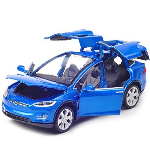 jpkoekw Für Tesla Automodell Spielzeugauto Legierung ziehen1:32 Fahrzeug Legierung zurückziehen Spielzeugauto mit Sound Light Toy für Kinder Geschenk Türen öffnen