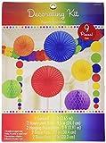 Amscan 243568-90-55 - Hängedekoration Set, Regenbogen, 9 teilig, Bunt