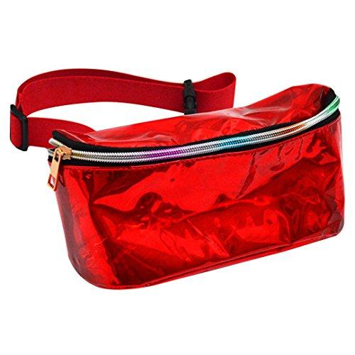 2c0f0e2cbb La Haute unisex borse vita corsa denaro cintura hiking waist Packs  riflettente in PVC impermeabile sport