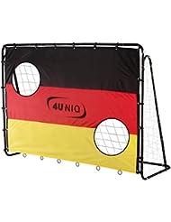 """Fußballtor 213 cm mit Torwand """"Champion- Germany"""" von 4UNIQ"""