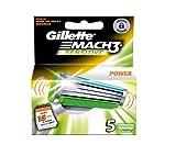 Gillette MACH3 Power Sensitive Razor Blades - Pack of 5 Refills