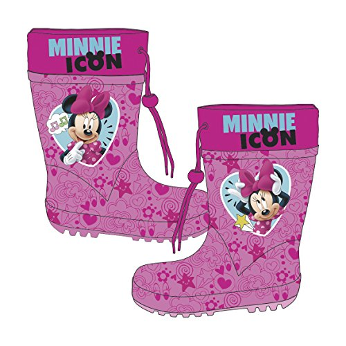 Disney Minnie Maus Kindergummistiefel Gummstiefel Kinderschuhe Regenstiefel (28)