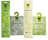 """IRIS Incense Stick (Lemon Grass + Jasmine) & Fragrance Sachet (Lemon Grass + Jasmine) - Pack of 4 Sold By SBâ""""¢"""