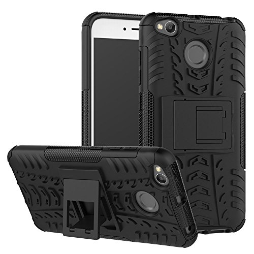 INNOXX Redmi 4 MI 4 Hybrid Armor Design Detachable And Stand-Up Feature Hard Back Case Cover For Redmi 4 -Black