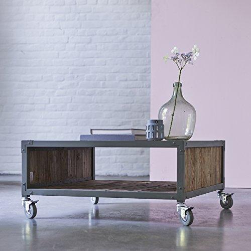Tikamoon Atelier Table Basse - Bois - Vert - 80 x 80 x 37 cm