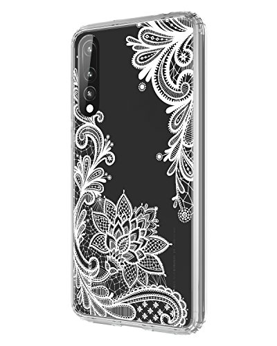 Coque Huawei P20 Pro,Huawei P20 Pro Case,Casetego Flower Clear Design Slim Shockproof Floral Printing Pattern Flexible TPU Back Cover for Huawei P20 Pro 2018