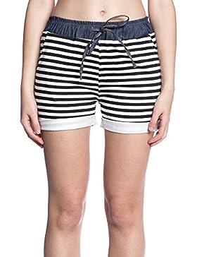Abbino IG003 Pantalones Corto para Mujer Colores Variados - Entretiempo Otoño Invierno Comodo Calido Mujeres Elegante...